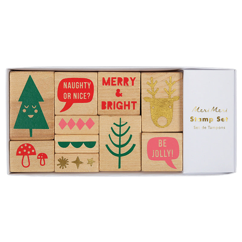 Meri Meri Jolly Stamp Set, MM-Meri Meri UK, Putti Fine Furnishings