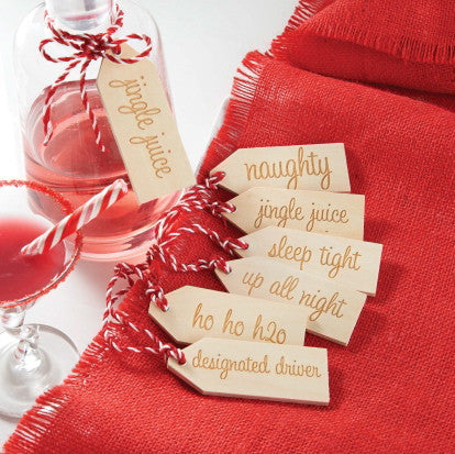 Wooden Holiday Gift Tags, MP-Mud Pie, Putti Fine Furnishings