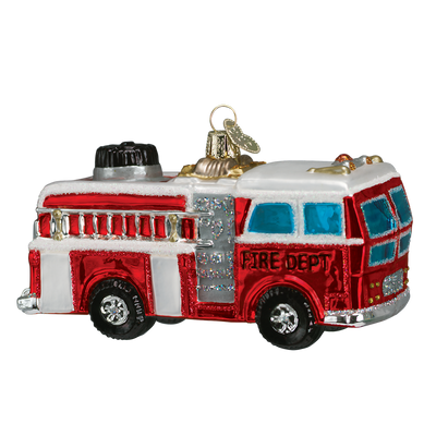 Old World Christmas Fire Truck Glass Christmas Ornament -  Christmas Decorations - Old World Christmas - Putti Fine Furnishings Toronto Canada - 1
