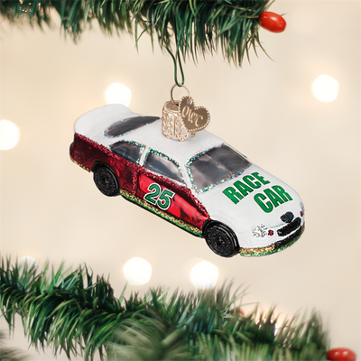 Old World Christmas Racing Car Glass Ornament -  Christmas Decorations - Old World Christmas - Putti Fine Furnishings Toronto Canada - 2