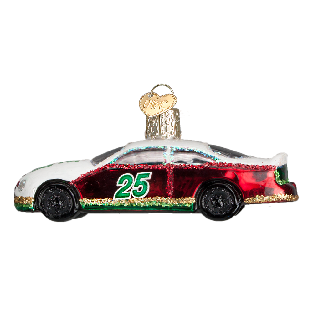 Old World Christmas Racing Car Glass Ornament -  Christmas Decorations - Old World Christmas - Putti Fine Furnishings Toronto Canada - 1