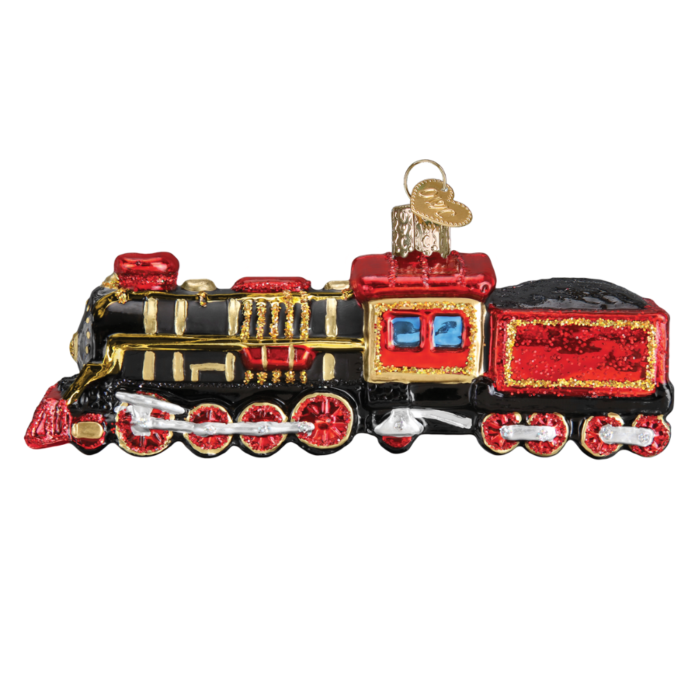 Old World Christmas Train Glass Ornament