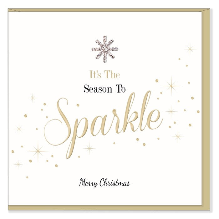 """It's the Season to Sparkle Merry Christmas"" Greeting Card, HD-Hearts Designs UK, Putti Fine Furnishings"