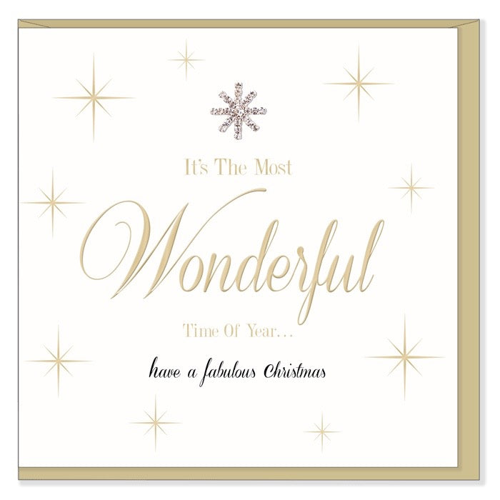 """It's the Most Wonderful time of the Year..."" Greeting Card, HD-Hearts Designs UK, Putti Fine Furnishings"