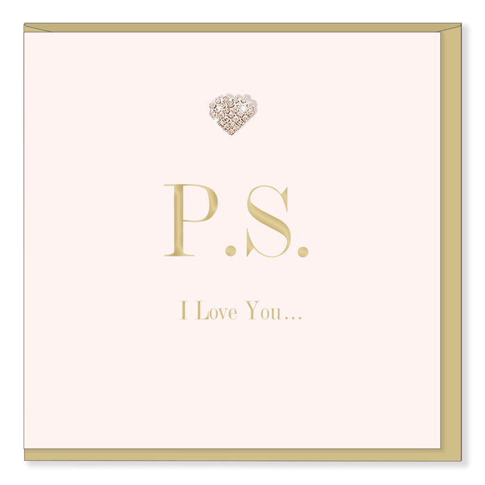 """P.S. I Love You"" Greeting Card, HD-Hearts Design, Putti Fine Furnishings"