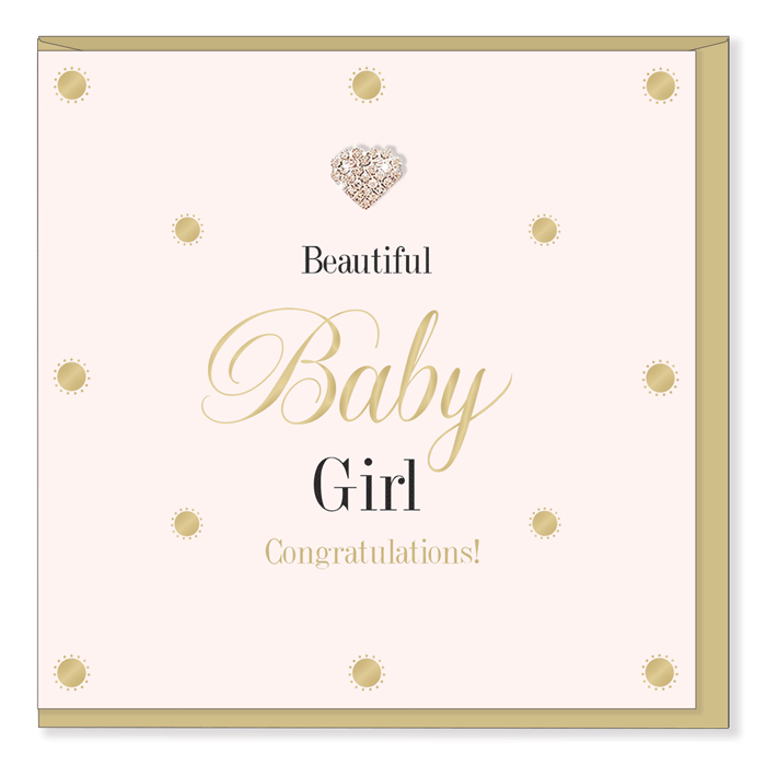 """Beautiful Baby Girl Congratulations!"" Greeting Card"
