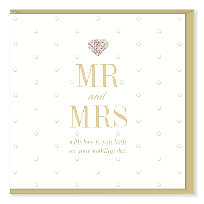 """Mr & Mrs with love to you both...""  Greeting Card"