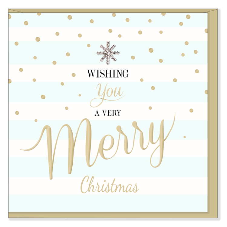 """Wishing you a Very Merry Christmas"" Greeting Card"