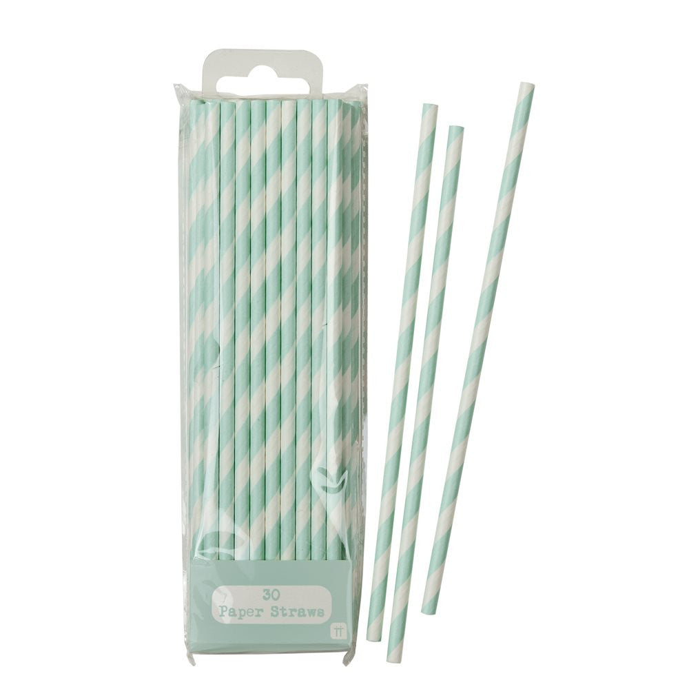 Mix & Match Stripped Straws - Mint, TT-Talking Tables, Putti Fine Furnishings