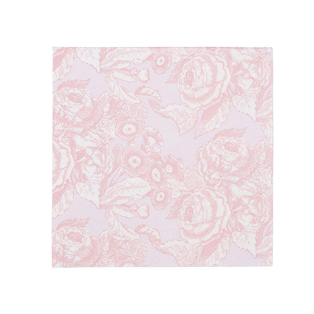 Party Porcelain Rose Embossed Paper Napkins - Small, TT-Talking Tables, Putti Fine Furnishings