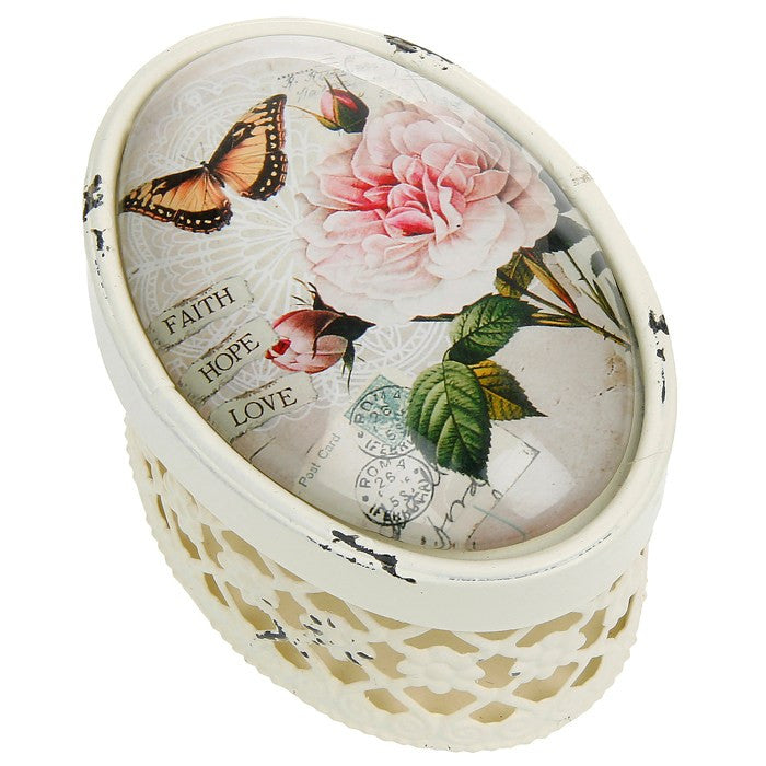 Vignette Collection Floral Oval Box -  Accessories - Joe Davies Uk - Putti Fine Furnishings Toronto Canada
