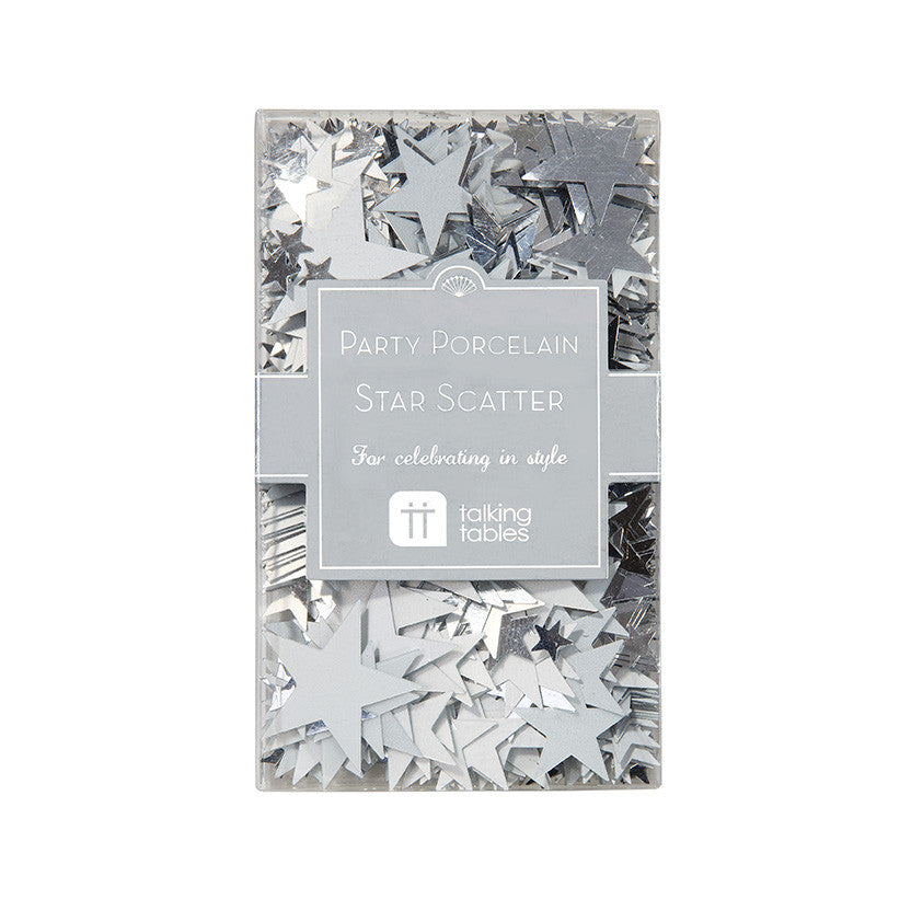 Party Porcelain Silver Star Scatter