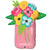 Mason Jar with Flowers Foil Balloon, SE-Surprize Enterprize, Putti Fine Furnishings