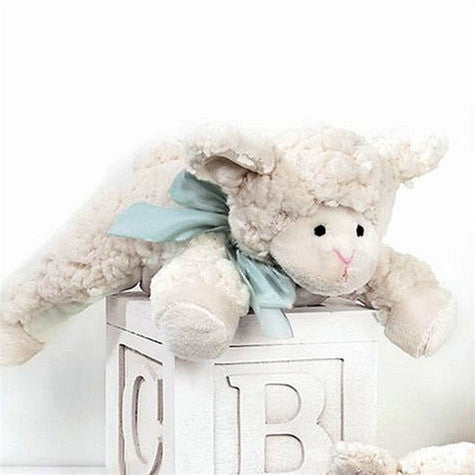 """Lamby"" Baby Baa - Rattle -  Children's - BC-Bearington Baby Collection - Bella Flor - Putti Fine Furnishings Toronto Canada"