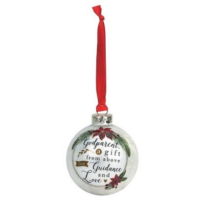 "Demdaco ""Godparent"" Message Ball Ornament 