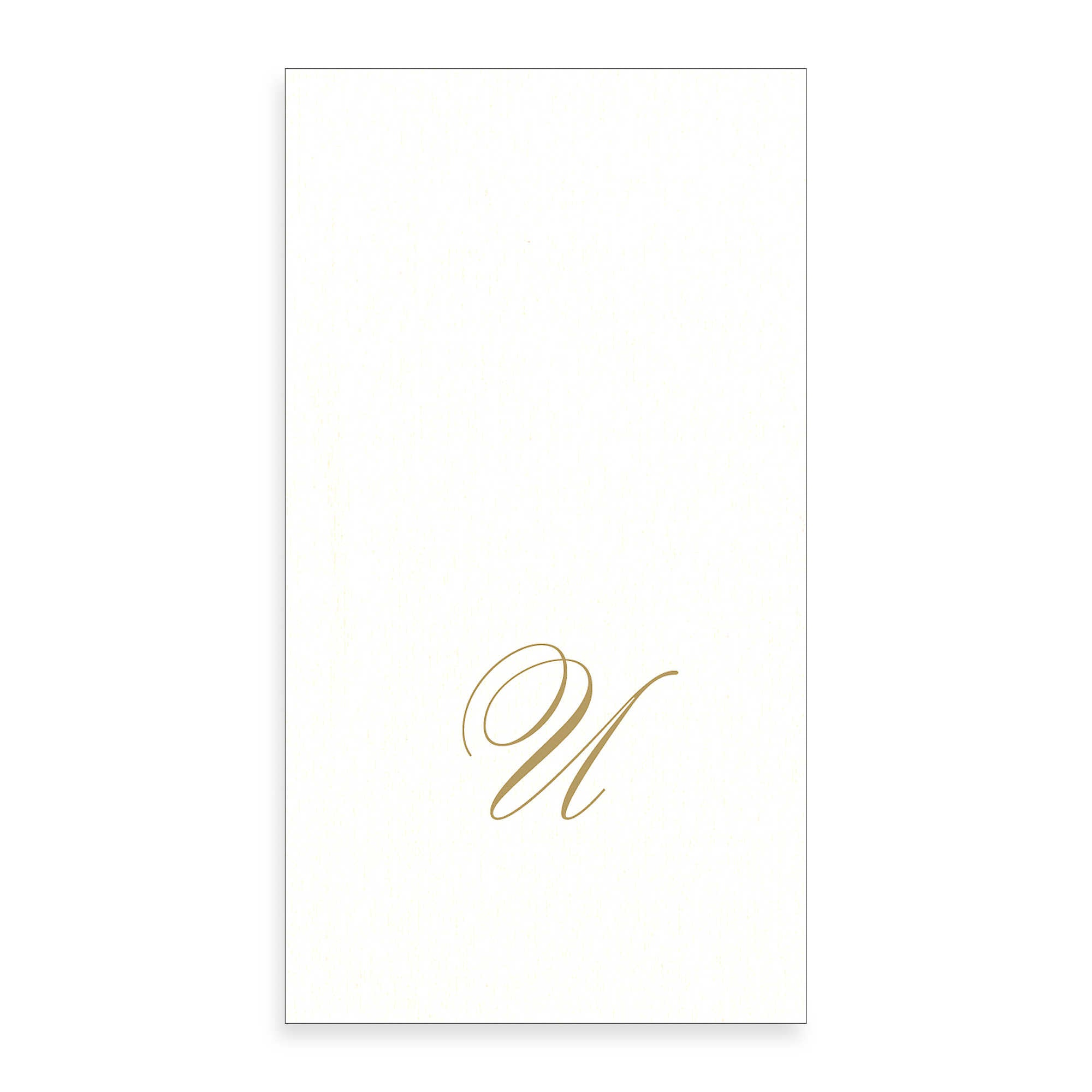 Gold Monogram Paper Guest Towel - Letter U, CI-Caspari, Putti Fine Furnishings