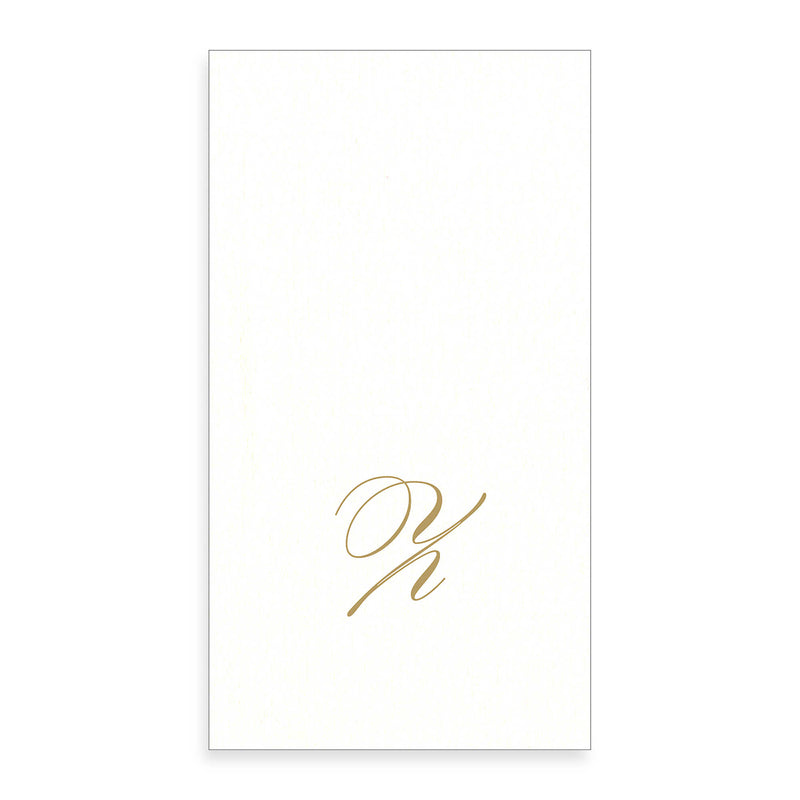 Gold Monogram Paper Guest Towel - Letter Z, CI-Caspari, Putti Fine Furnishings
