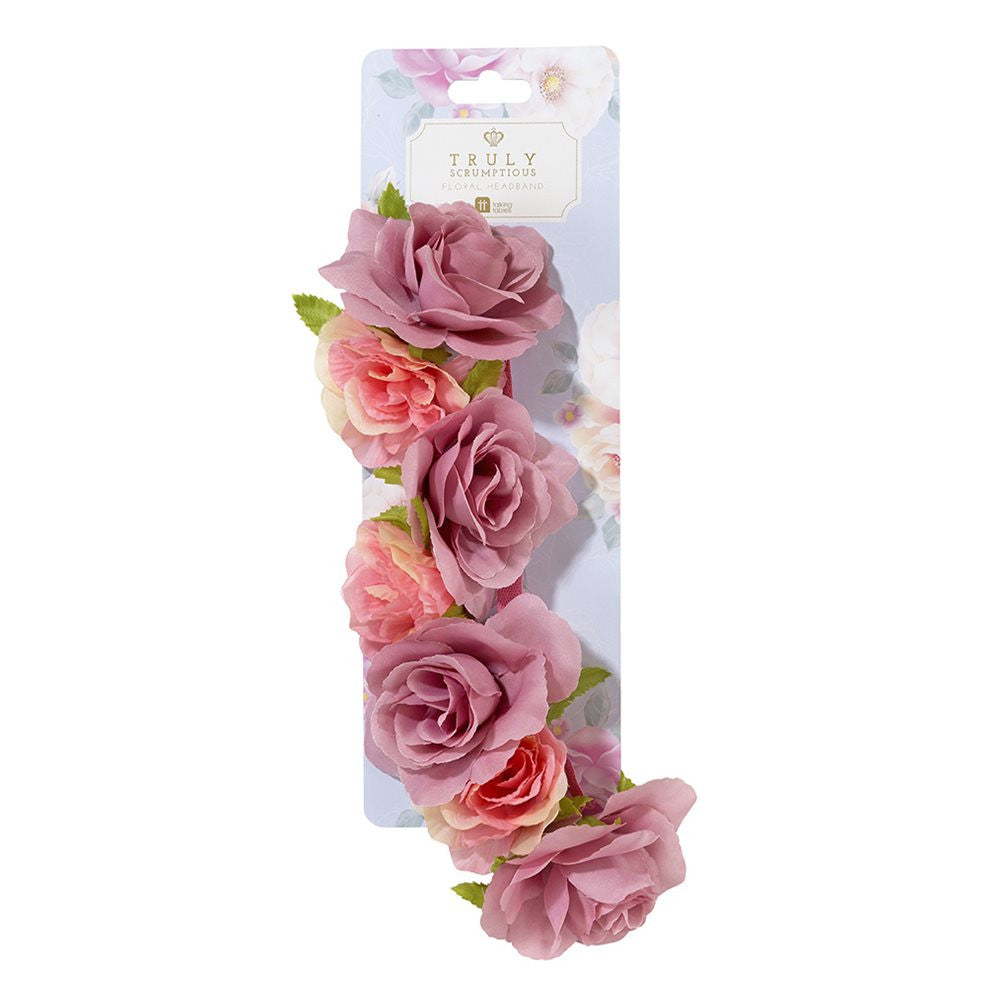 Truly Scrumptious Floral Headband -  Party Supplies - Talking Tables - Putti Fine Furnishings Toronto Canada - 3