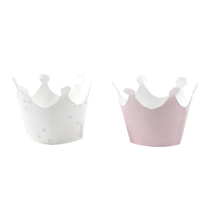 """We Heart Pink"" Free Printable - Crown Cupcake Wraps, TT-Talking Tables, Putti Fine Furnishings"