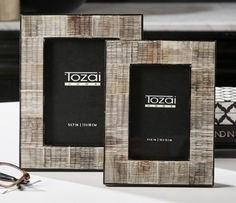 Tozai Chiselled Horn Photo Frame