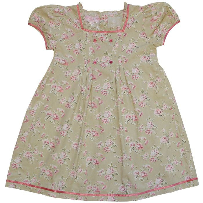 """Olive"" Vintage Rose Dress - 1 to 2 years (Sold Out) Children's Clothing - Powell Craft Uk - Putti Fine Furnishings Toronto Canada"