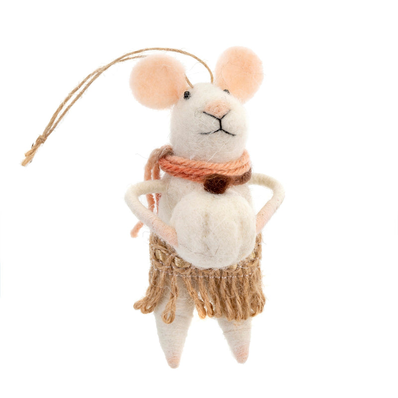 """Harvest Harriet "" Felt Mouse Ornament 