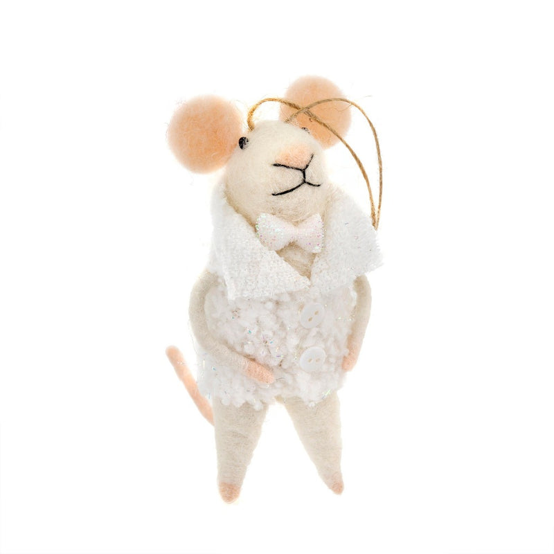 """New Years Evan"" Felted Mouse Ornament"