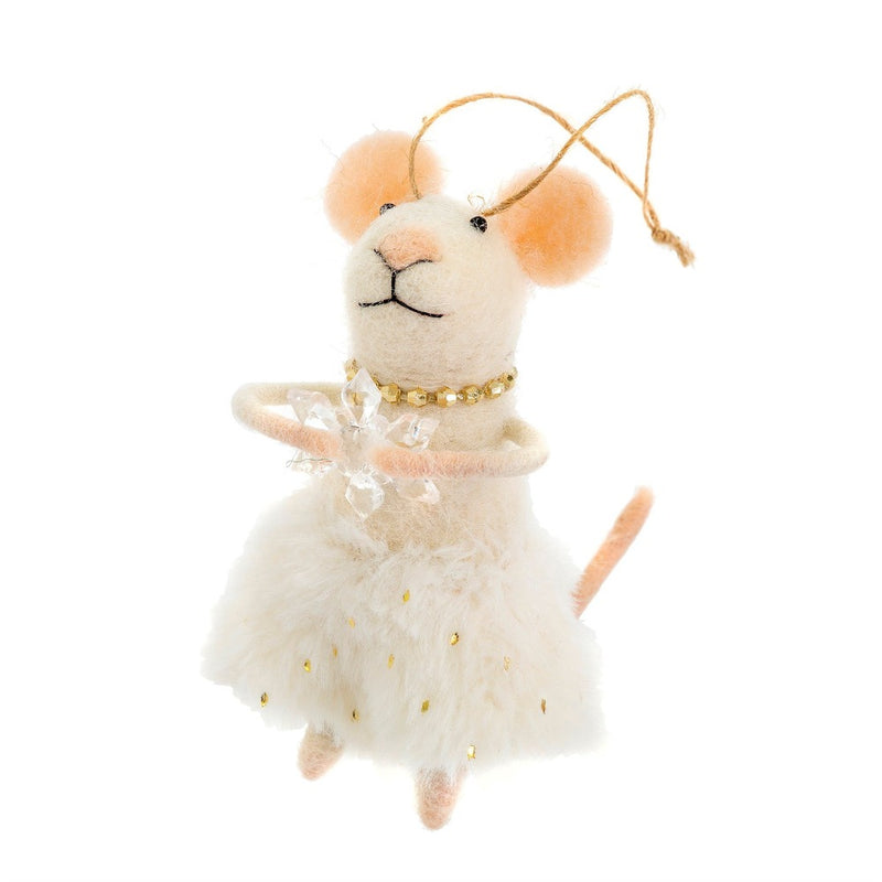 """Miss Clara"" Felted Mouse Ornament"
