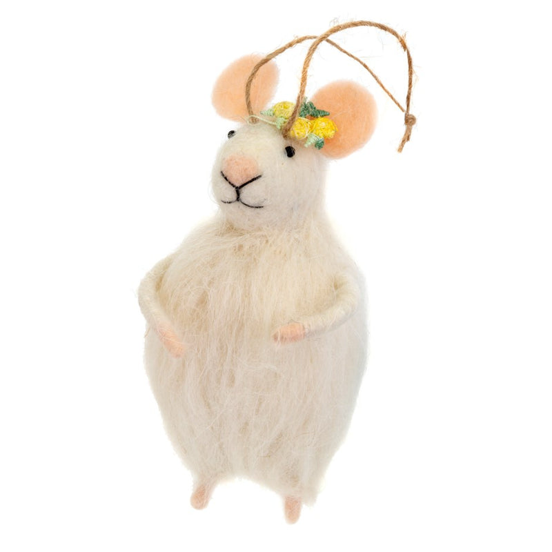 """Auntie Elanore"" Felted Mouse Ornament  