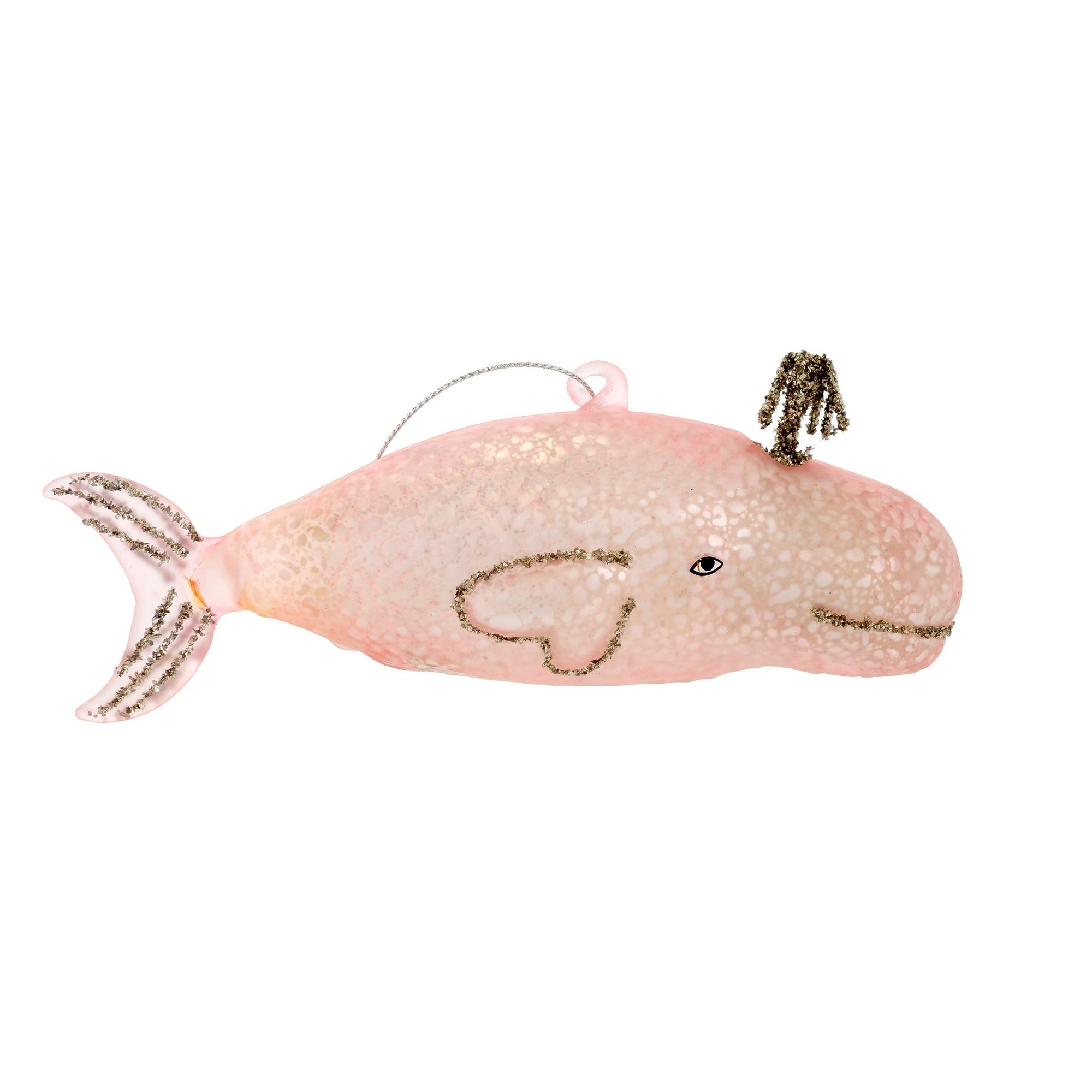 Pink Whale Tale Ornament | Putti Christmas Canada