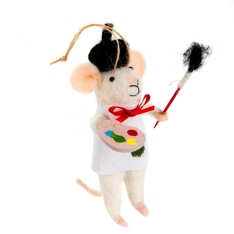 """Andre Artiste"""" Felted Mouse Ornament 