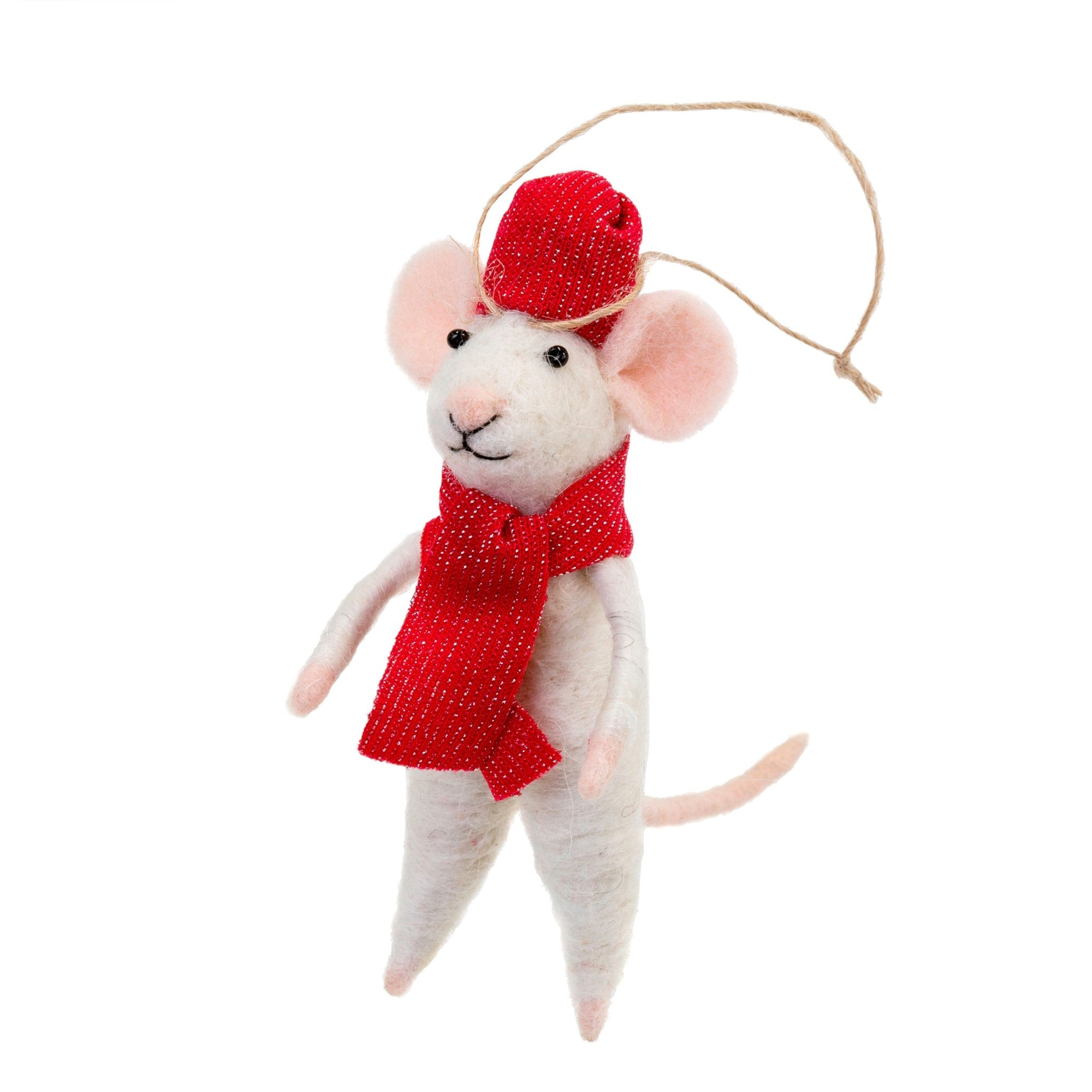 """Prince Paul"" Felted Mouse Ornament 