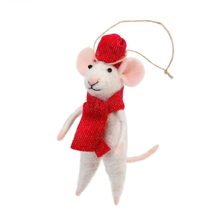 """Prince Paul"" Felted Mouse Ornament"