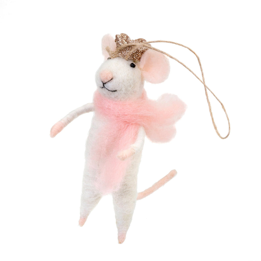 """Princess Paulina"" Felted Mouse Ornament"