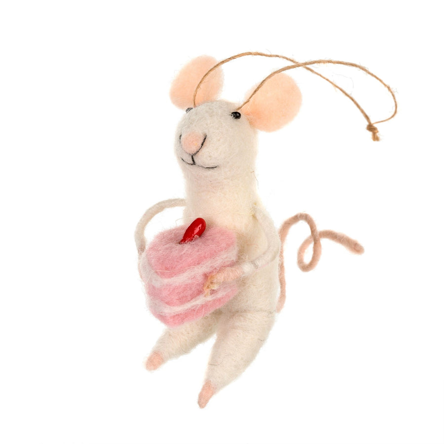 """Baking Bonnie"" Felted Mouse Ornament"