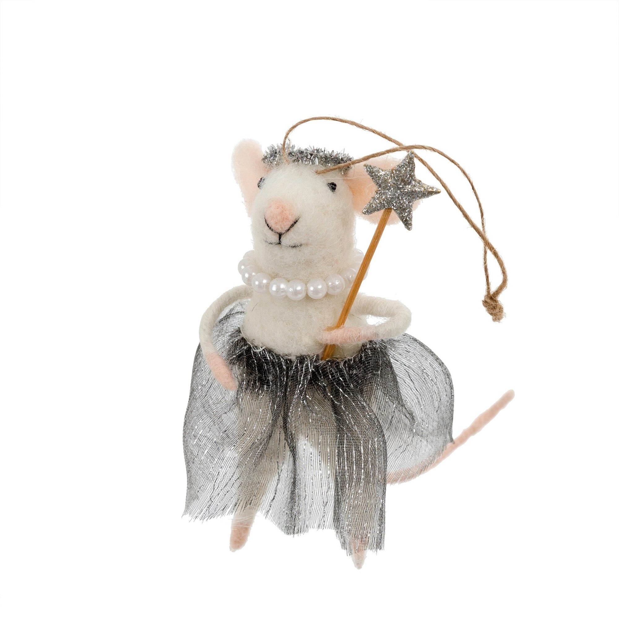 """Ballerina Betty"" Felted Mouse Ornament -  Decorations - IT-Indaba Trading - Putti Fine Furnishings Toronto Canada"