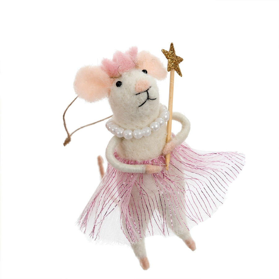 """Princess Pearl"" Felted Mouse Ornament"
