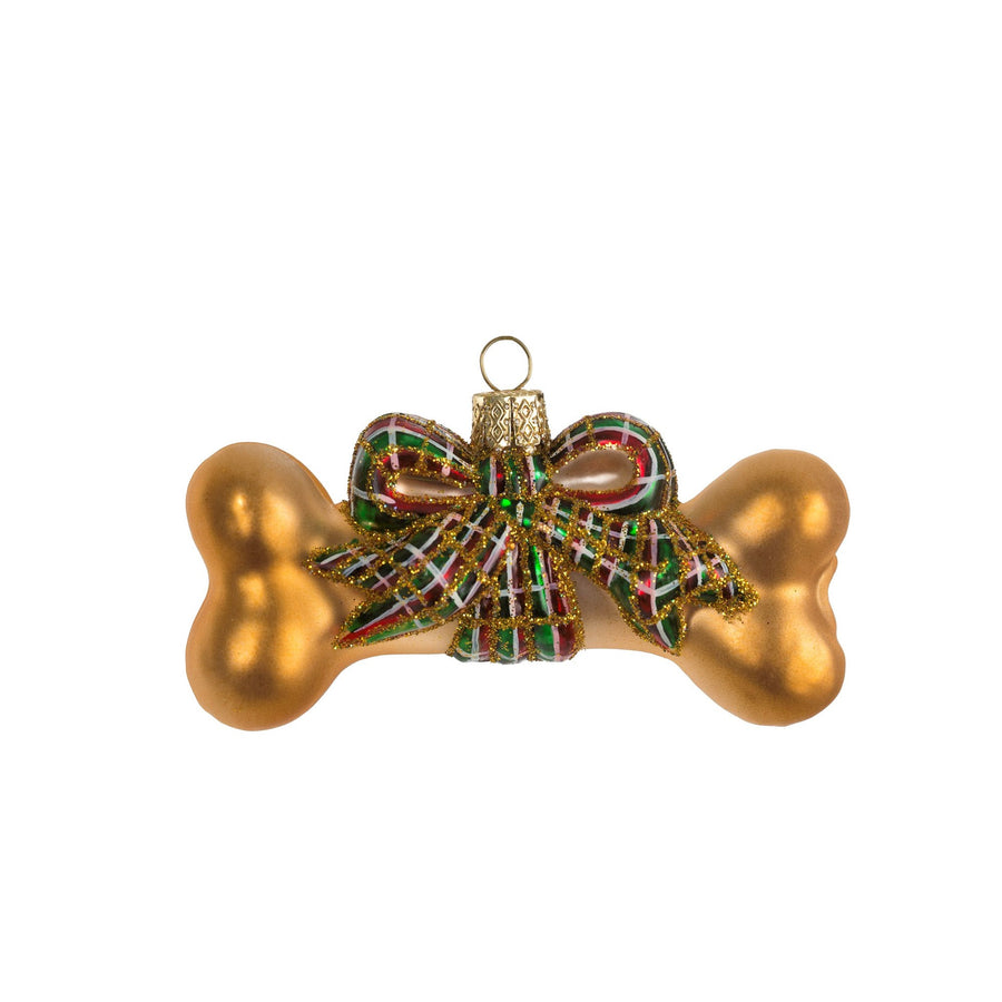 Glass Dog Bone Ornament