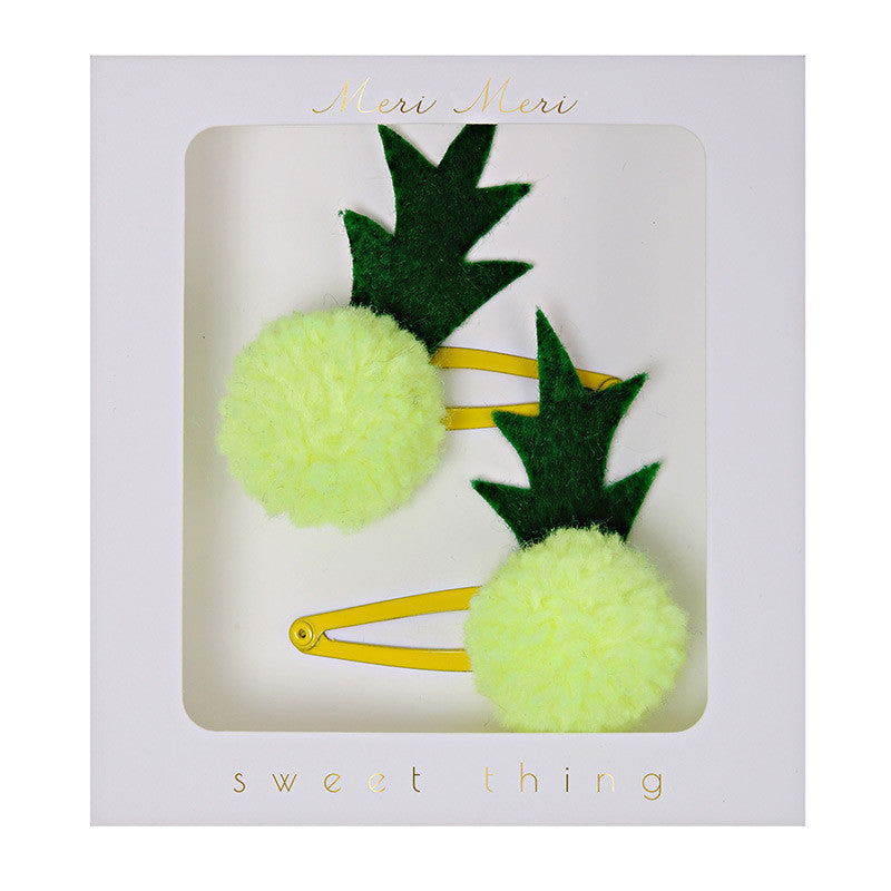 "Meri Meri ""Pineapple Pom Pom"" Hair Clips"