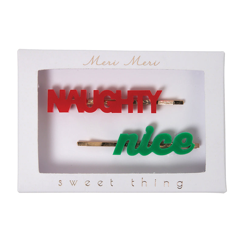 Meri Meri Naughty Nice Hair Clips