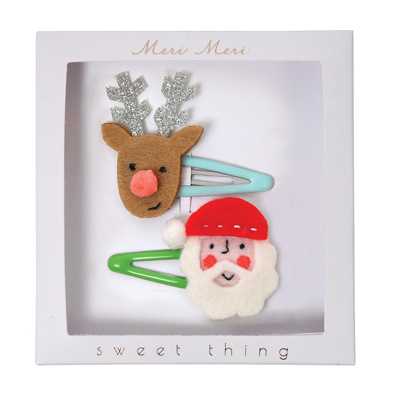 Meri Meri Santa And Reindeer Hair Clip, MM-Meri Meri UK, Putti Fine Furnishings