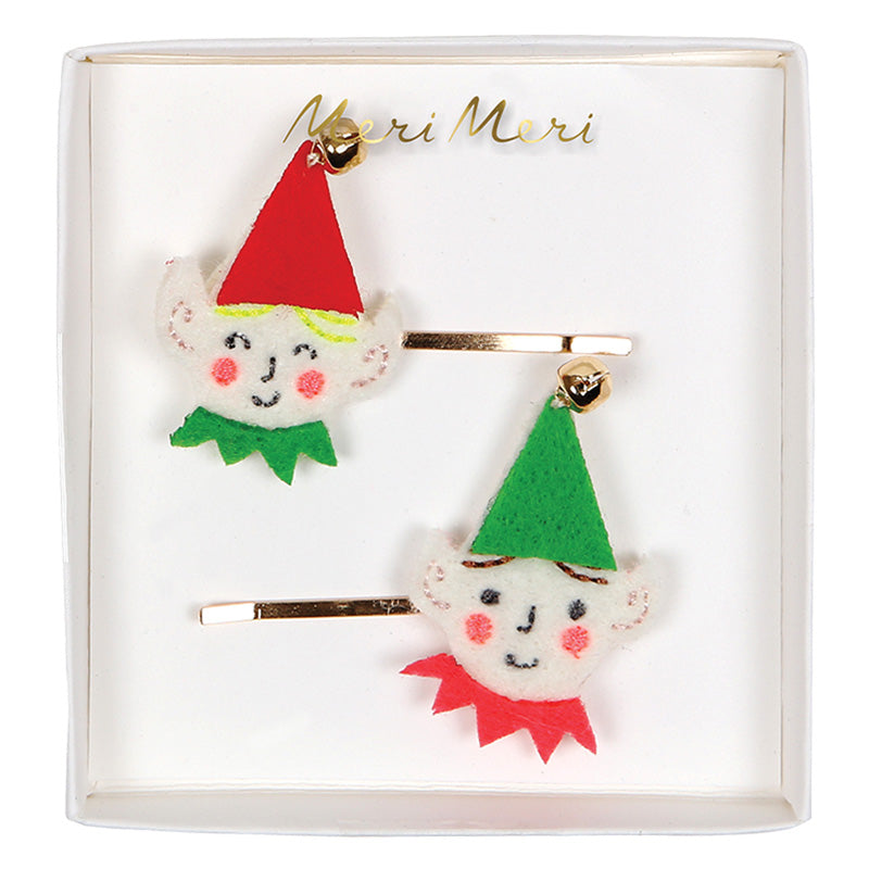 Meri Meri Santa's Elf Hair Clips, MM-Meri Meri UK, Putti Fine Furnishings