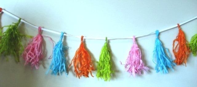 Decorative Tassel Garland - Rainbow Colors