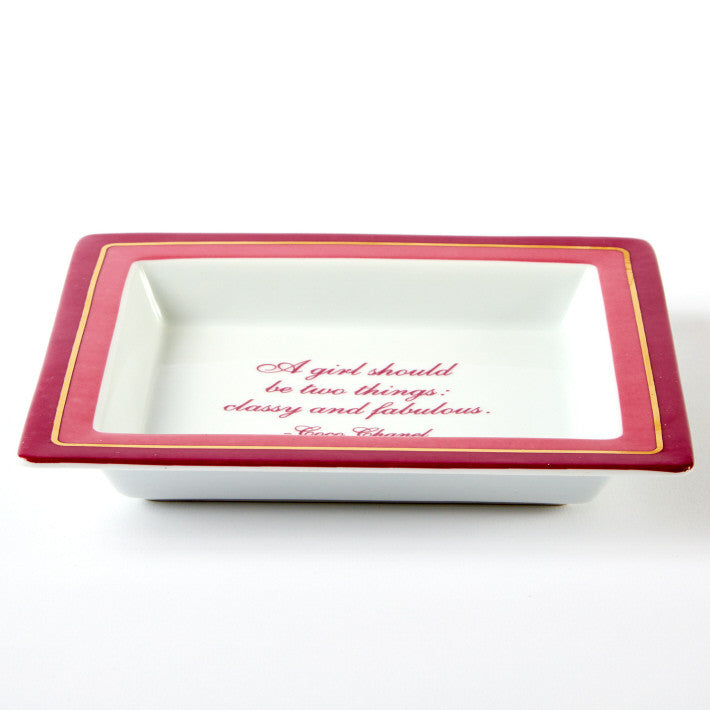 """A girl should be two things....Coco Chanel Porcelain Tray"