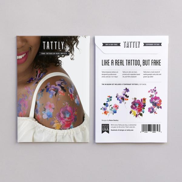 Tattly Temporary Tattoos - In Bloom Set, TTT- Tattly Temporary Tattoos, Putti Fine Furnishings