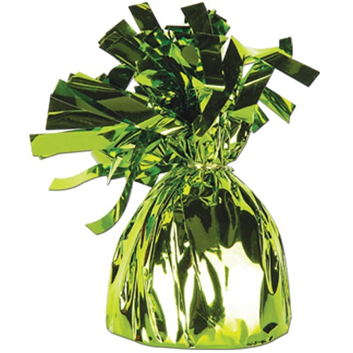 Lime Green Foil Balloon Weight - Putti Celebrations Canada