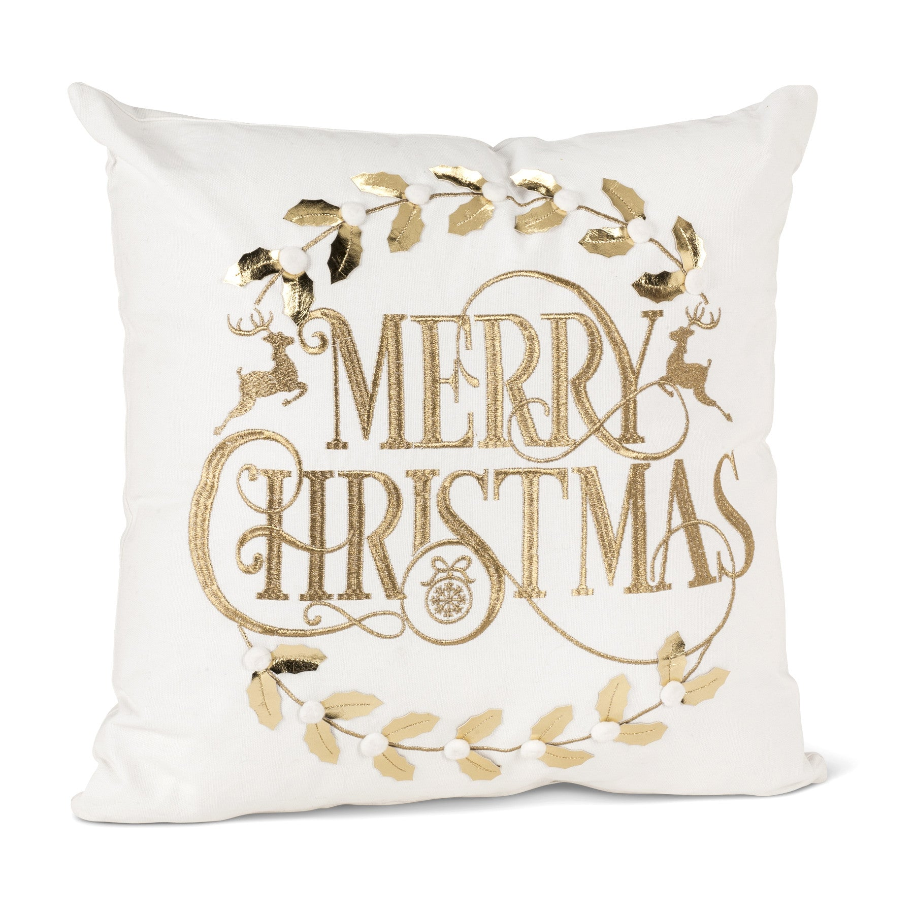"""Merry Christmas"" Pillow, CH-Coach House / Abbot Collection, Putti Fine Furnishings"