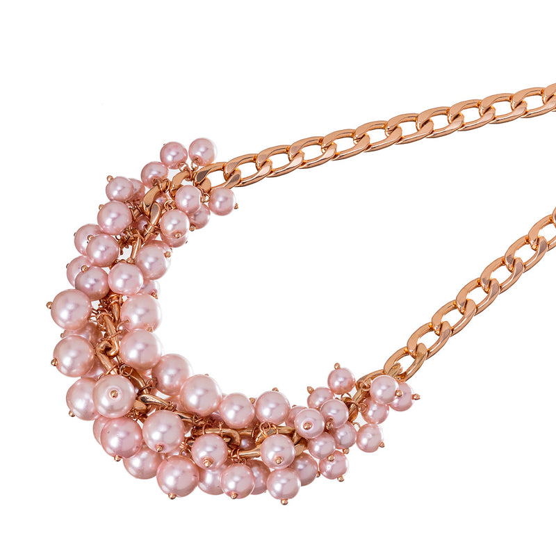 Pink Pearl Cluster Necklace | Putti Fine Fashions