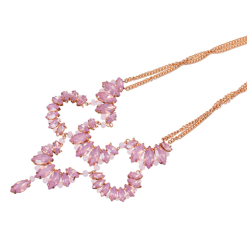 Pink Opal Gem Necklace  | Putti Fine Fashions