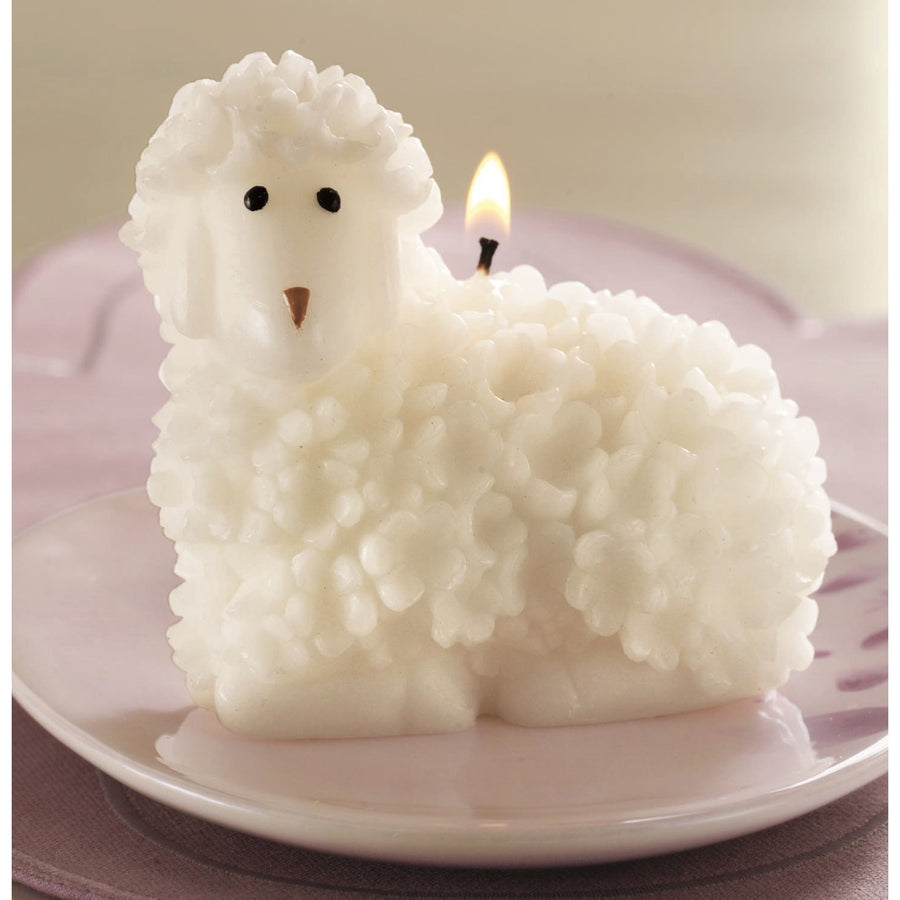 White Lamb Candle